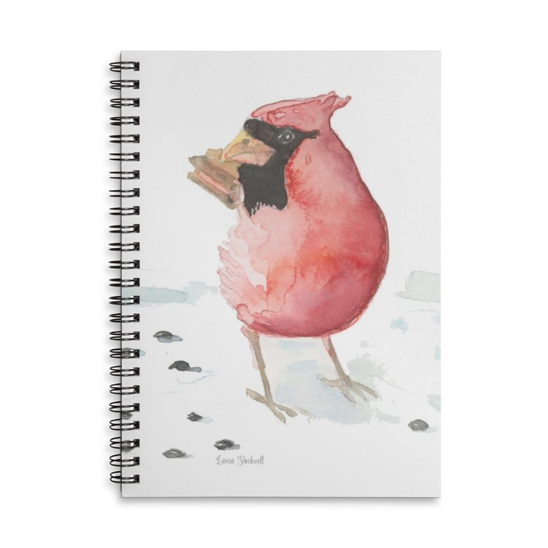 Cardinal Accessories Lined Spiral Notebook by LauraStockwell's Artist Shop
