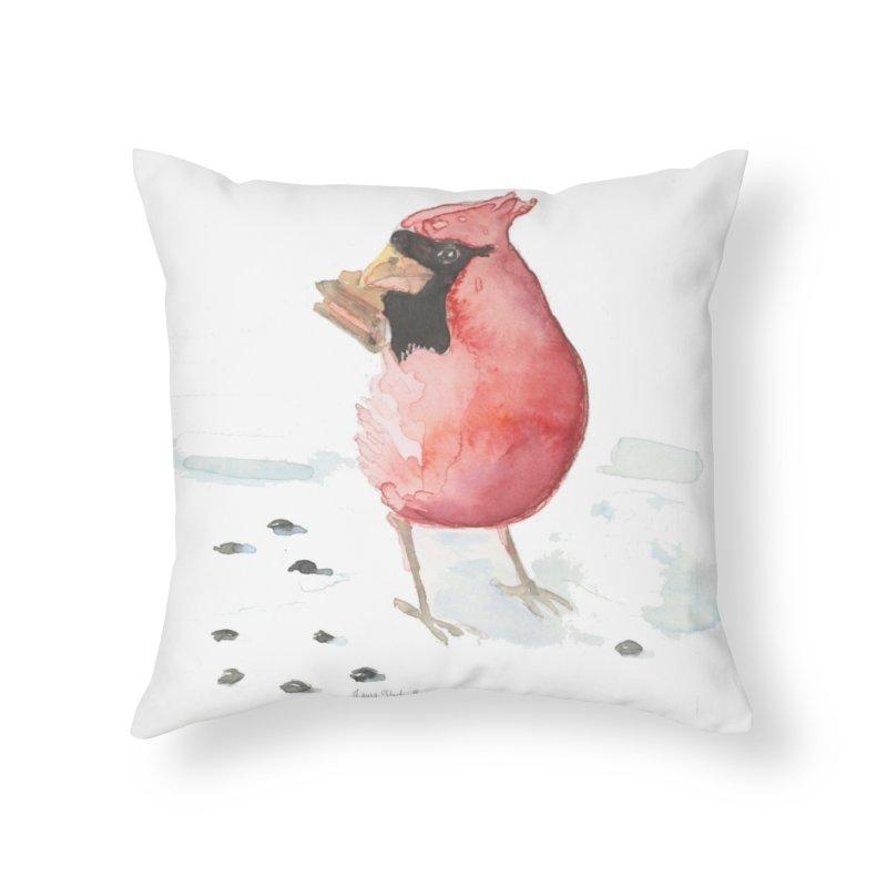 Cardinal Home Throw Pillow by LauraStockwell's Artist Shop