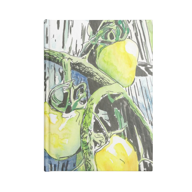 Tomatoes on the Vine Accessories Lined Journal Notebook by LauraStockwell's Artist Shop