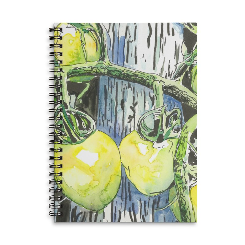 Tomatoes on the Vine Accessories Lined Spiral Notebook by LauraStockwell's Artist Shop