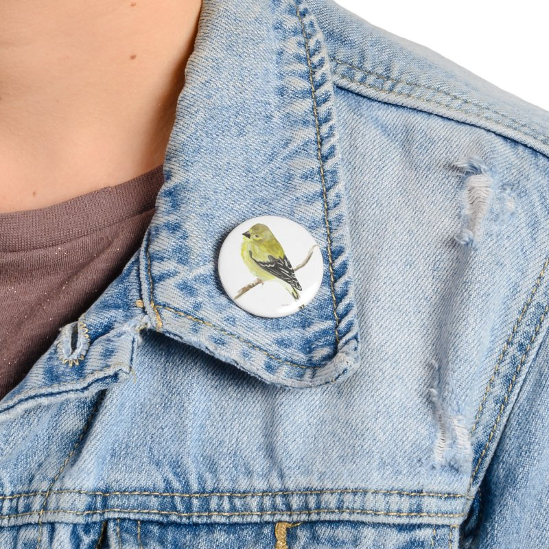 Winter Goldfinch Accessories Button by LauraStockwell's Artist Shop