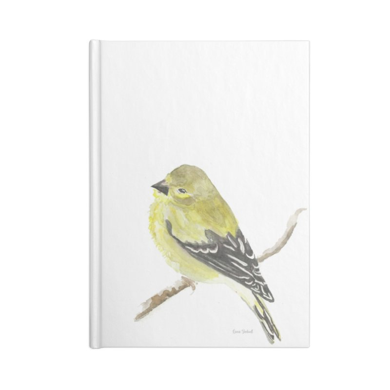 Winter Goldfinch Accessories Notebook by LauraStockwell's Artist Shop