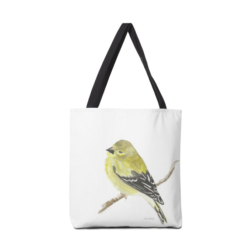 Winter Goldfinch Accessories Tote Bag Bag by LauraStockwell's Artist Shop