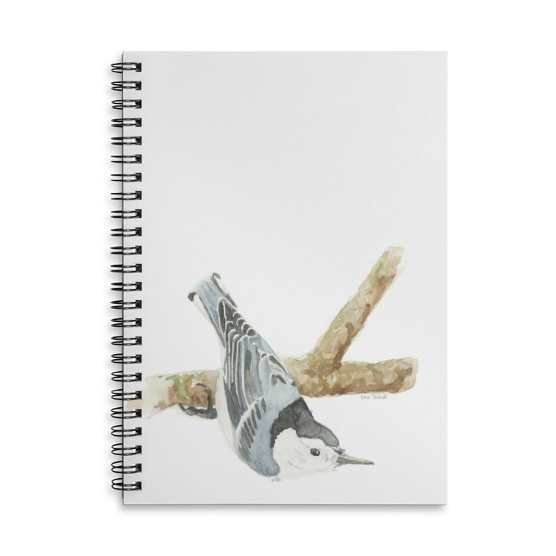 Nuthatch Accessories Lined Spiral Notebook by LauraStockwell's Artist Shop