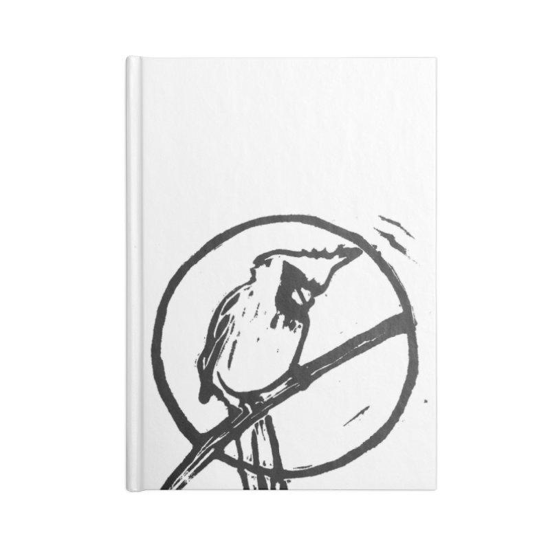 Linocut Cardinal Accessories Notebook by LauraStockwell's Artist Shop