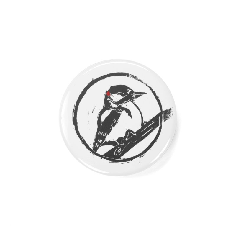 Downy Woodpecker Accessories Button by LauraStockwell's Artist Shop