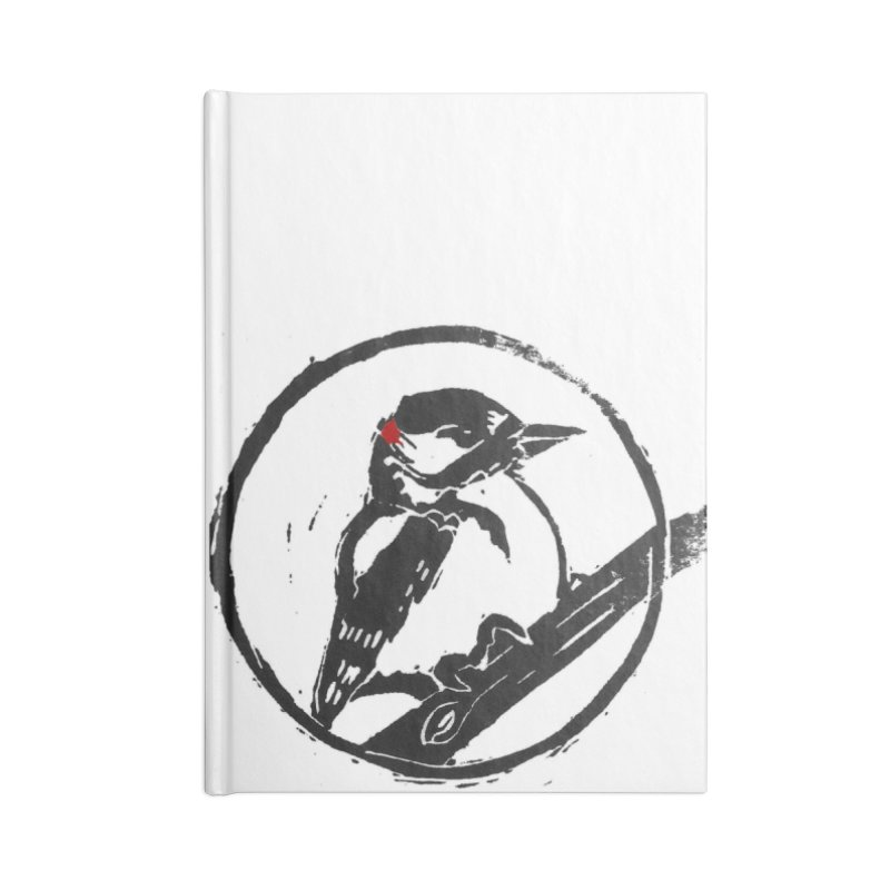 Downy Woodpecker Accessories Lined Journal Notebook by LauraStockwell's Artist Shop