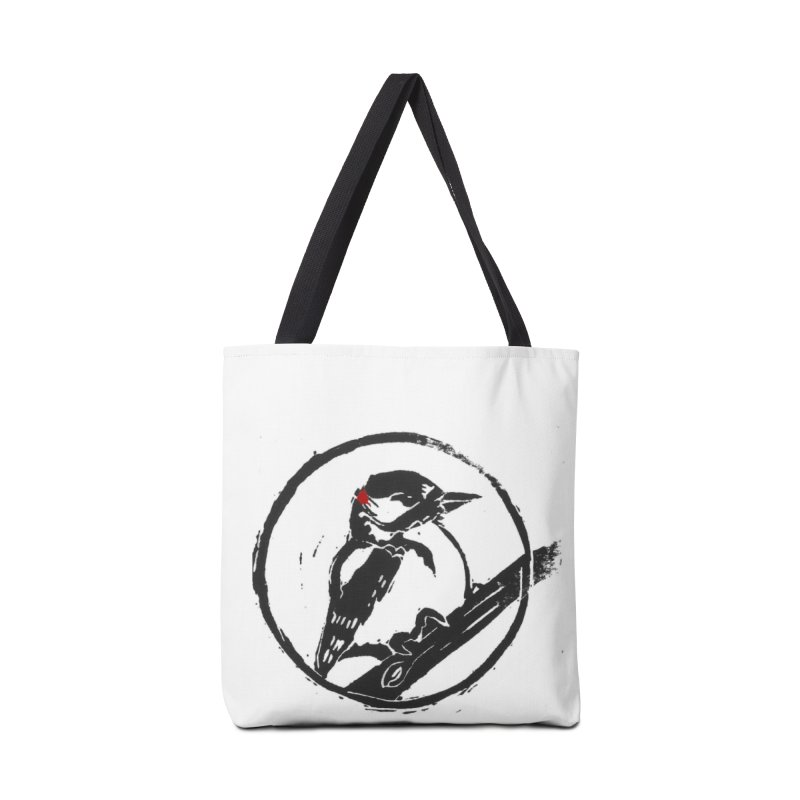 Downy Woodpecker Accessories Tote Bag Bag by LauraStockwell's Artist Shop