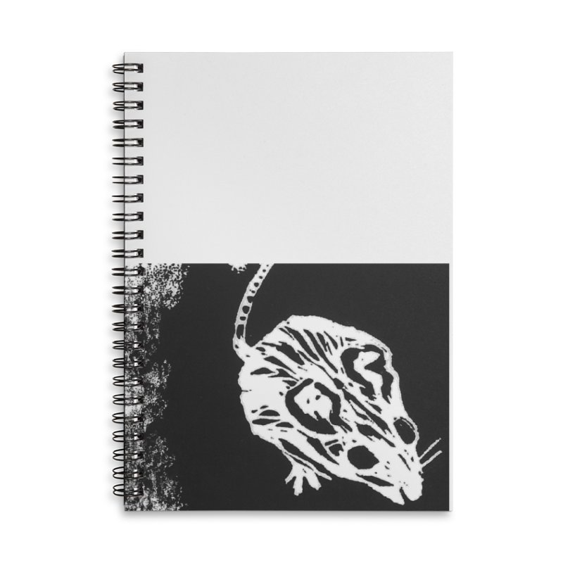 Linocut Mouse Accessories Notebook by LauraStockwell's Artist Shop