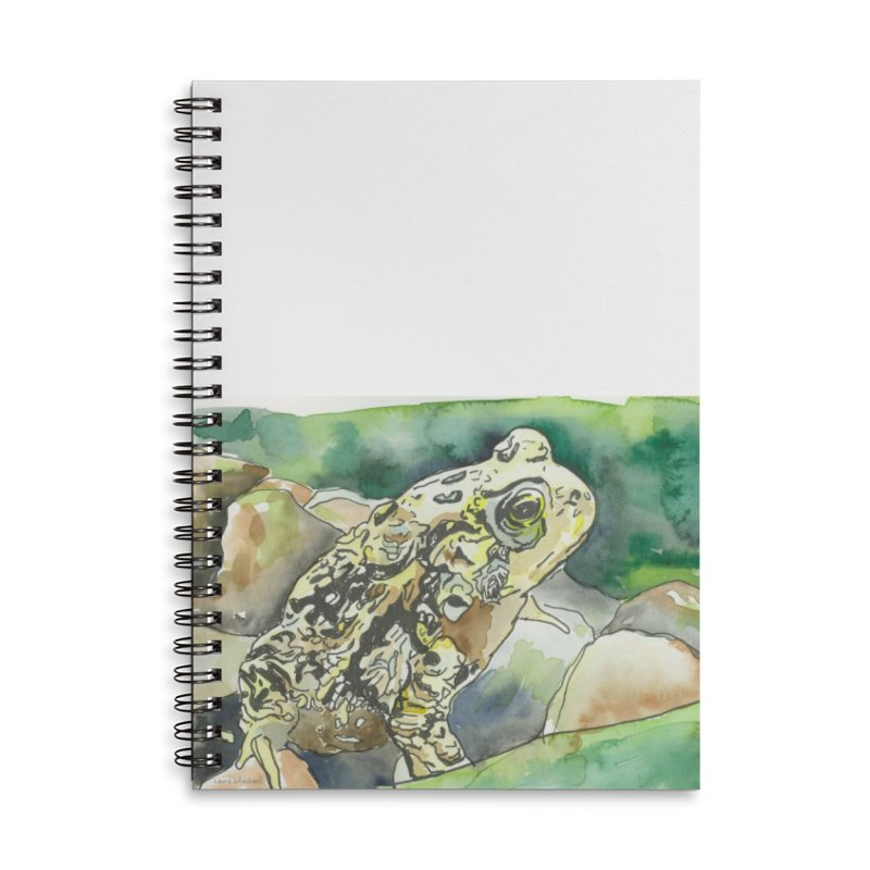 American Toad Accessories Lined Spiral Notebook by LauraStockwell's Artist Shop