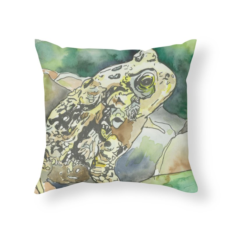 American Toad Home Throw Pillow by LauraStockwell's Artist Shop