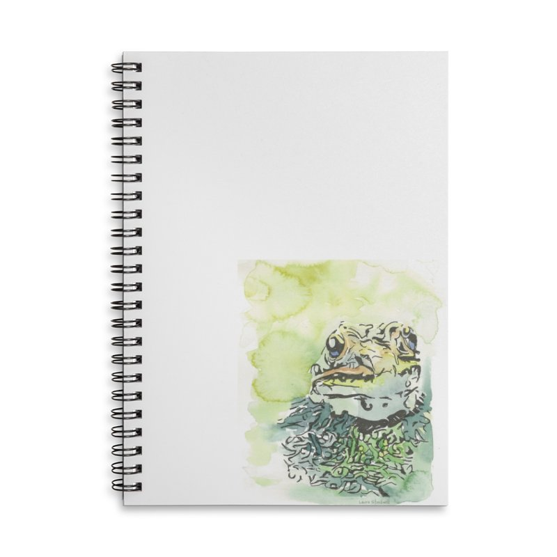 Leopard Frog Accessories Lined Spiral Notebook by LauraStockwell's Artist Shop