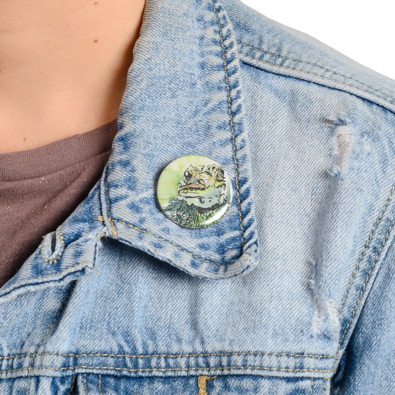 Leopard Frog Accessories Button by LauraStockwell's Artist Shop