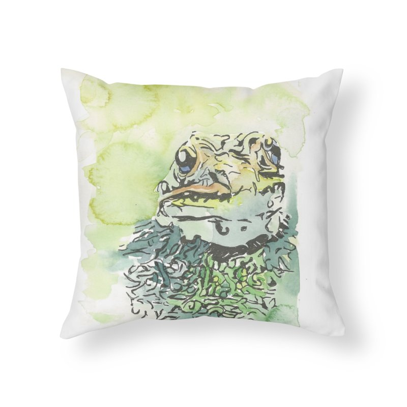 Leopard Frog Home Throw Pillow by LauraStockwell's Artist Shop