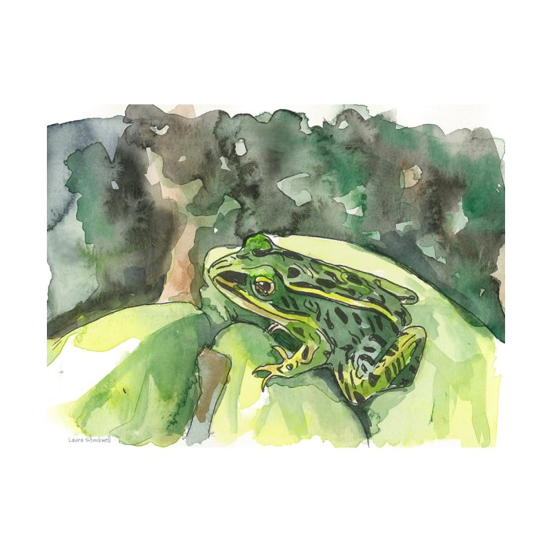 Leopard Frog 2 Accessories Bag by LauraStockwell's Artist Shop