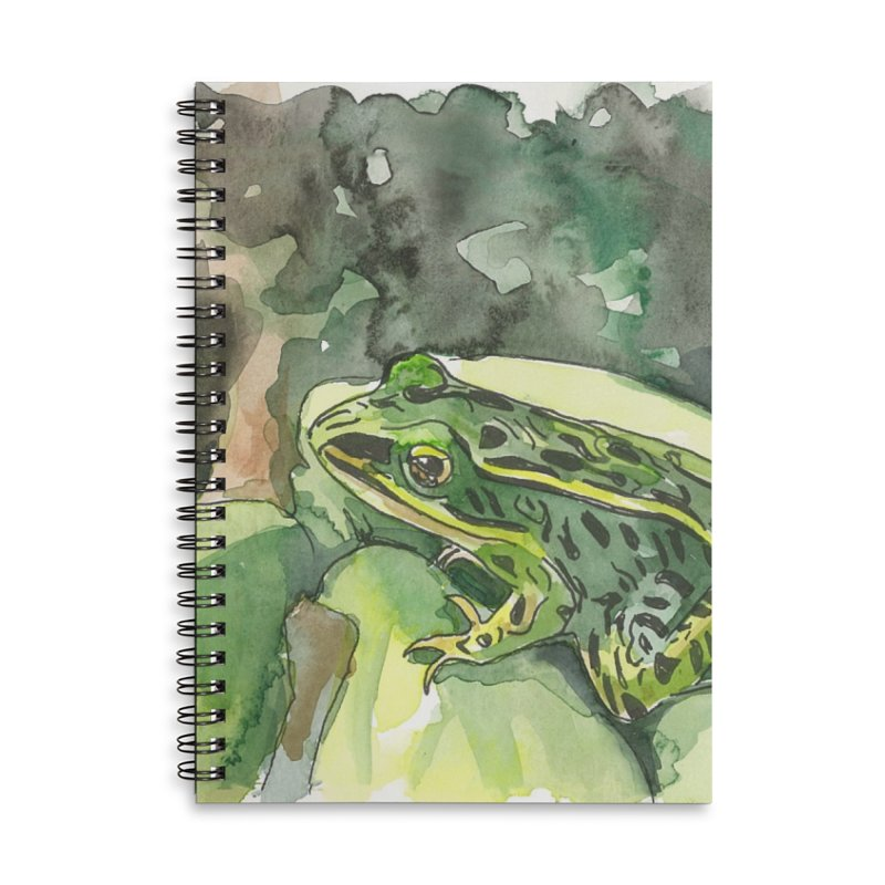 Leopard Frog 2 Accessories Lined Spiral Notebook by LauraStockwell's Artist Shop