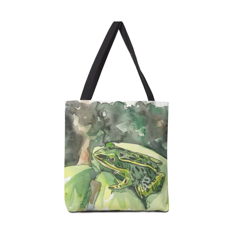 Leopard Frog 2 Accessories Tote Bag Bag by LauraStockwell's Artist Shop