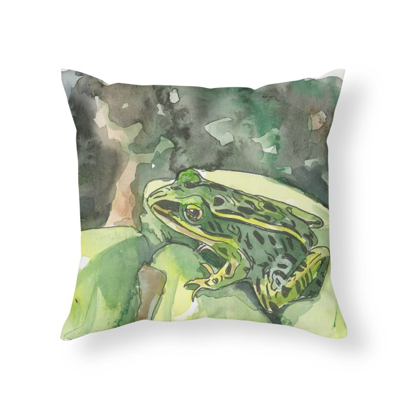 Leopard Frog 2 Home Throw Pillow by LauraStockwell's Artist Shop