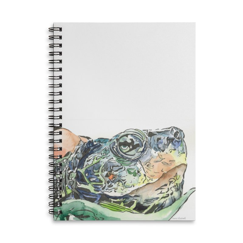 Snapping Turtle Accessories Lined Spiral Notebook by LauraStockwell's Artist Shop
