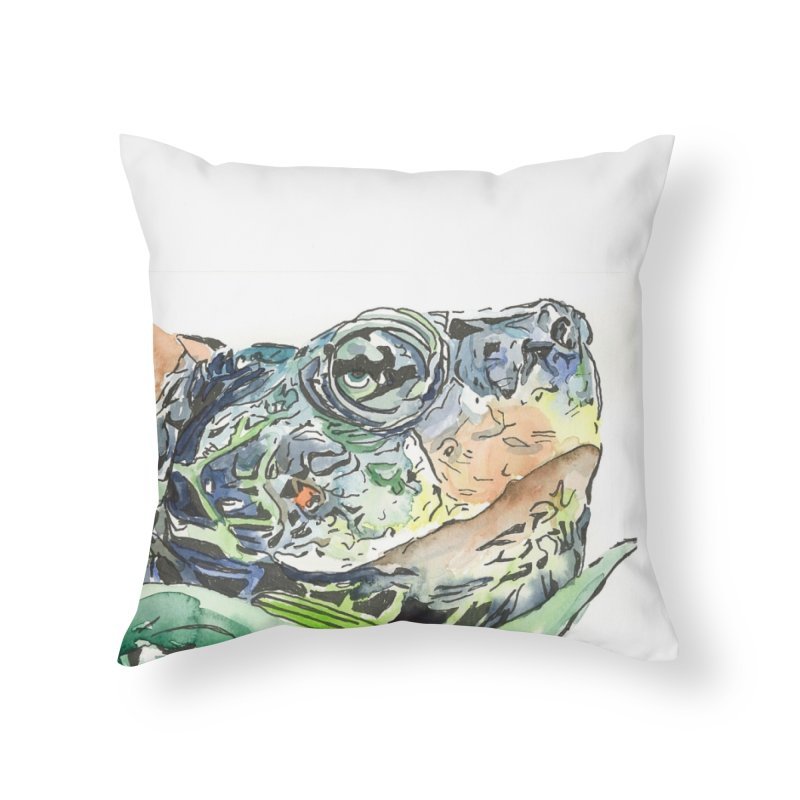 Snapping Turtle Home Throw Pillow by LauraStockwell's Artist Shop