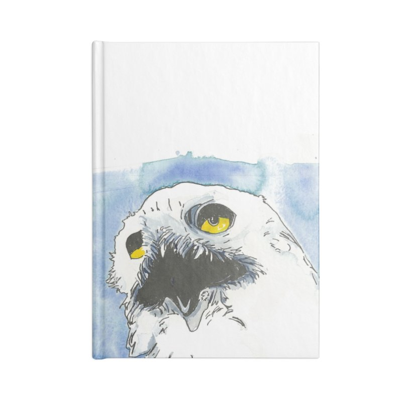 Snowy Owl Accessories Notebook by LauraStockwell's Artist Shop