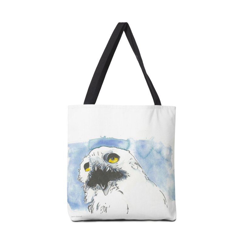 Snowy Owl Accessories Bag by LauraStockwell's Artist Shop