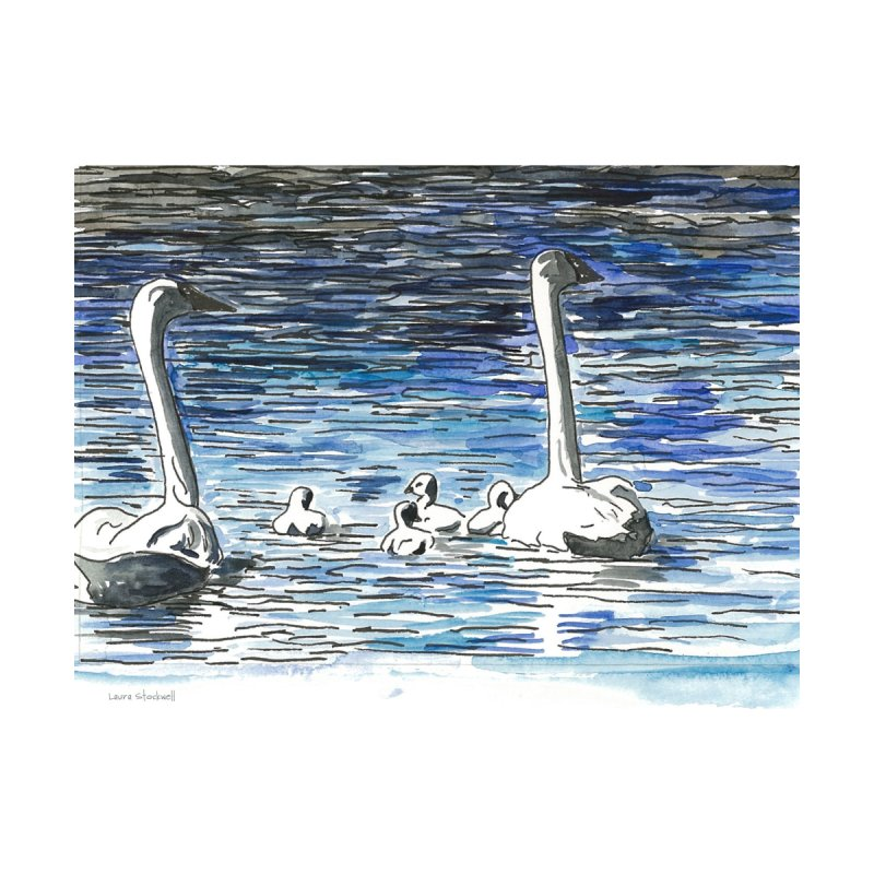 Swans Accessories Button by LauraStockwell's Artist Shop