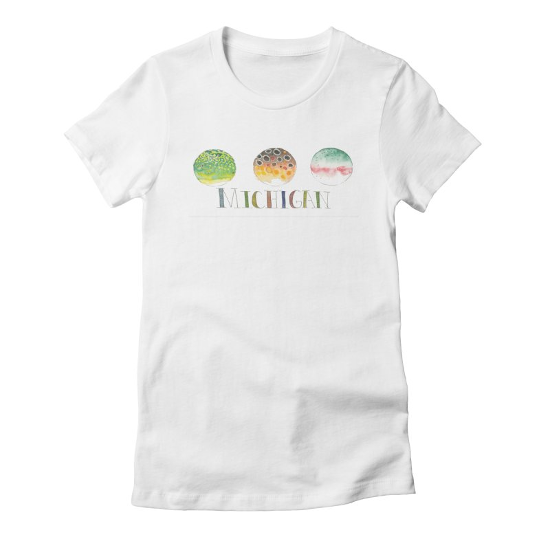 Michigan Trout Women's T-Shirt by LauraStockwell's Artist Shop
