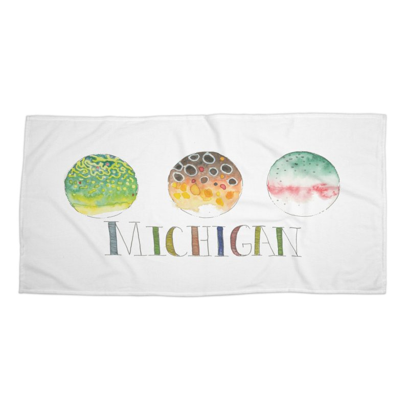 Michigan Trout Accessories Beach Towel by LauraStockwell's Artist Shop