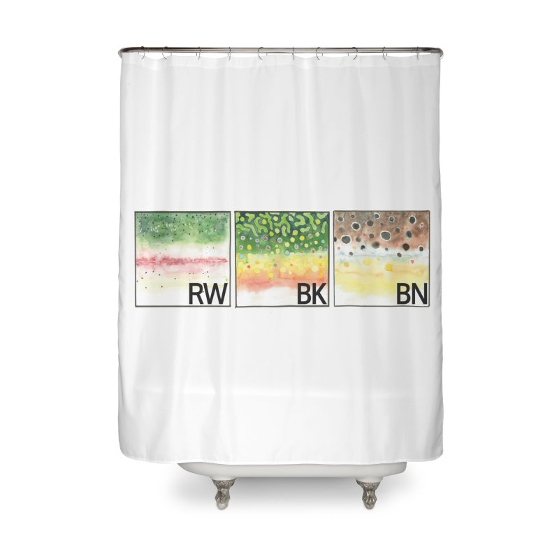 Trouts Home Shower Curtain by LauraStockwell's Artist Shop