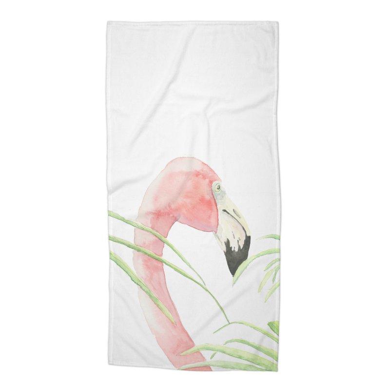 Flamingo Accessories Beach Towel by LauraStockwell's Artist Shop