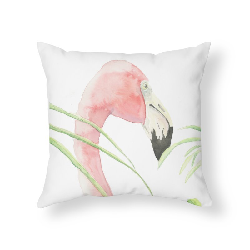Flamingo Home Throw Pillow by LauraStockwell's Artist Shop