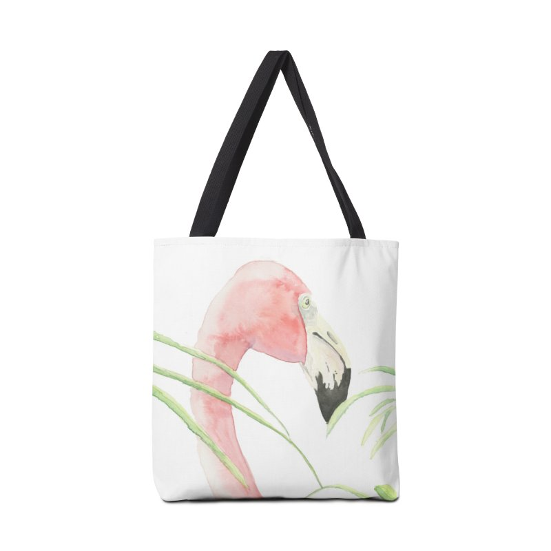Flamingo Accessories Bag by LauraStockwell's Artist Shop