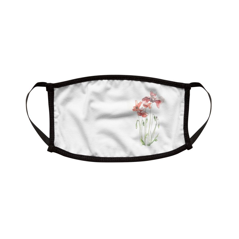 Summer Poppies Accessories Face Mask by LauraStockwell's Artist Shop