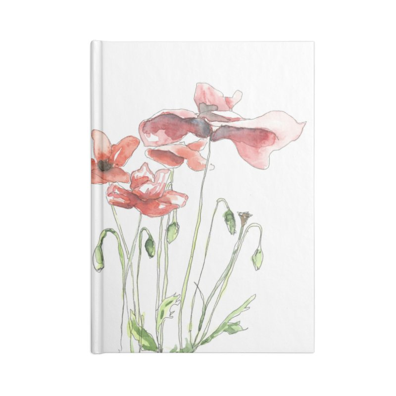 Summer Poppies Accessories Notebook by LauraStockwell's Artist Shop