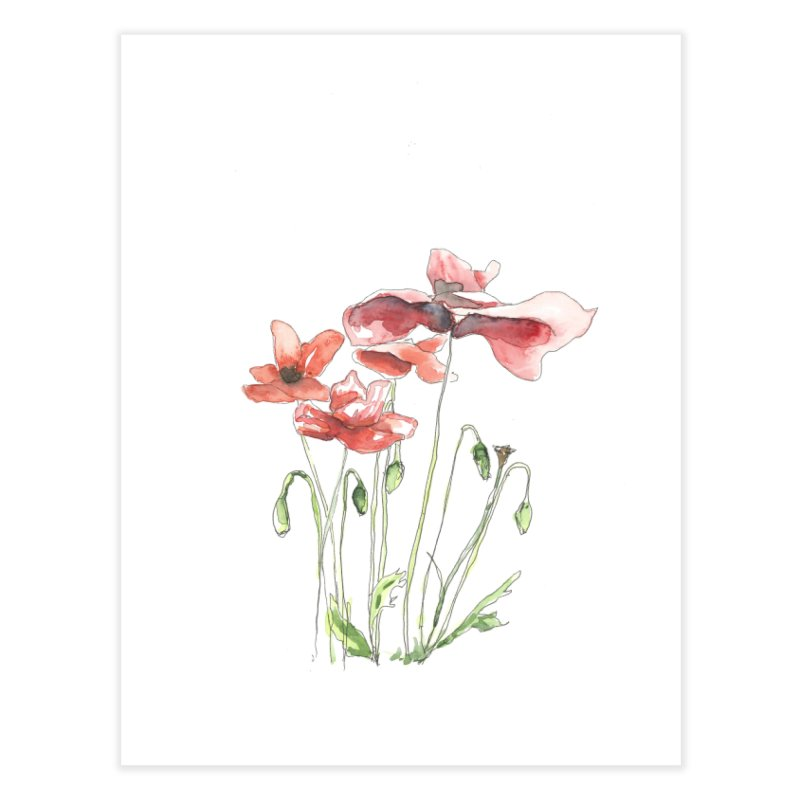 Summer Poppies Home Fine Art Print by LauraStockwell's Artist Shop