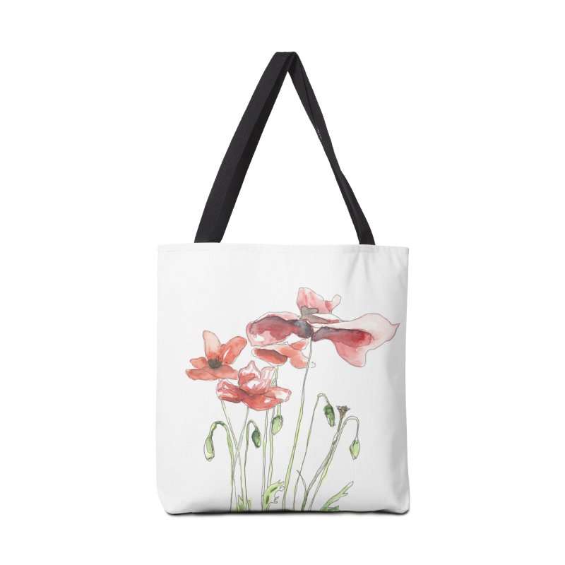 Summer Poppies Accessories Bag by LauraStockwell's Artist Shop