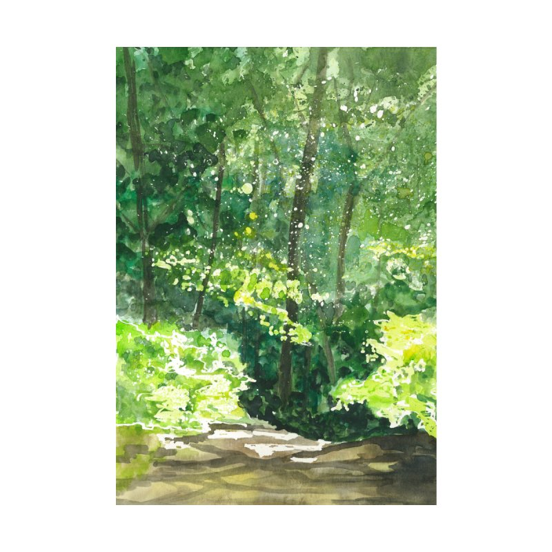 A Bend in the Trail Home Fine Art Print by LauraStockwell's Artist Shop