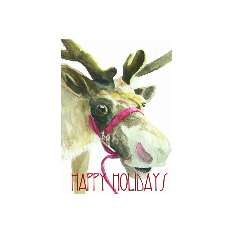 Reindeer Holiday Card Accessories Greeting Card by LauraStockwell's Artist Shop