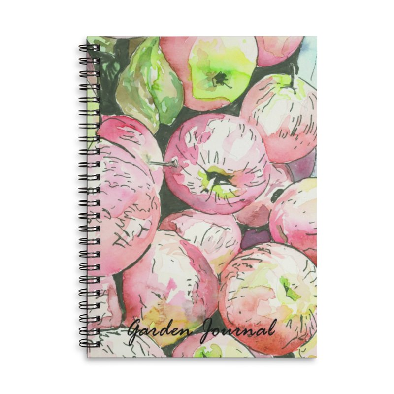 Garden Journal - Apples Accessories Notebook by LauraStockwell's Artist Shop