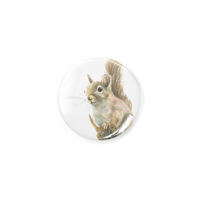 Red Squirrel Accessories Button by LauraStockwell's Artist Shop