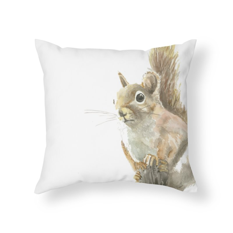 Red Squirrel Home Throw Pillow by LauraStockwell's Artist Shop