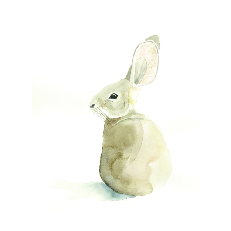 Cottontail Home Throw Pillow by LauraStockwell's Artist Shop