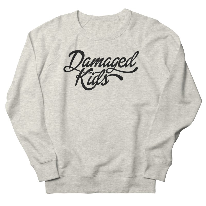 Original Damaged Kids Logo - Black Women's French Terry Sweatshirt by LaurenVersino's Artist Shop
