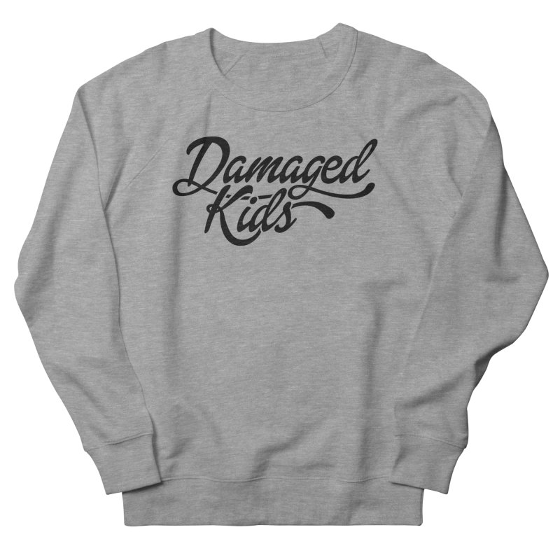 Original Damaged Kids Logo - Black Men's French Terry Sweatshirt by LaurenVersino's Artist Shop