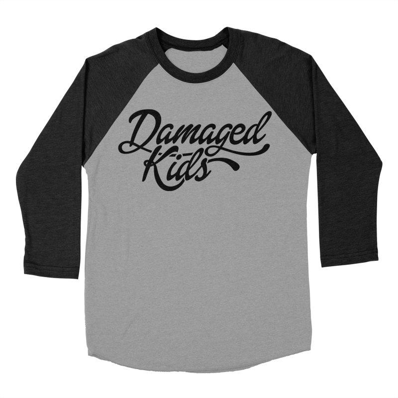Original Damaged Kids Logo - Black Women's Baseball Triblend Longsleeve T-Shirt by LaurenVersino's Artist Shop