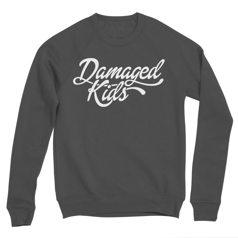 Original Damaged Kids Logo - White Men's Sponge Fleece Sweatshirt by LaurenVersino's Artist Shop