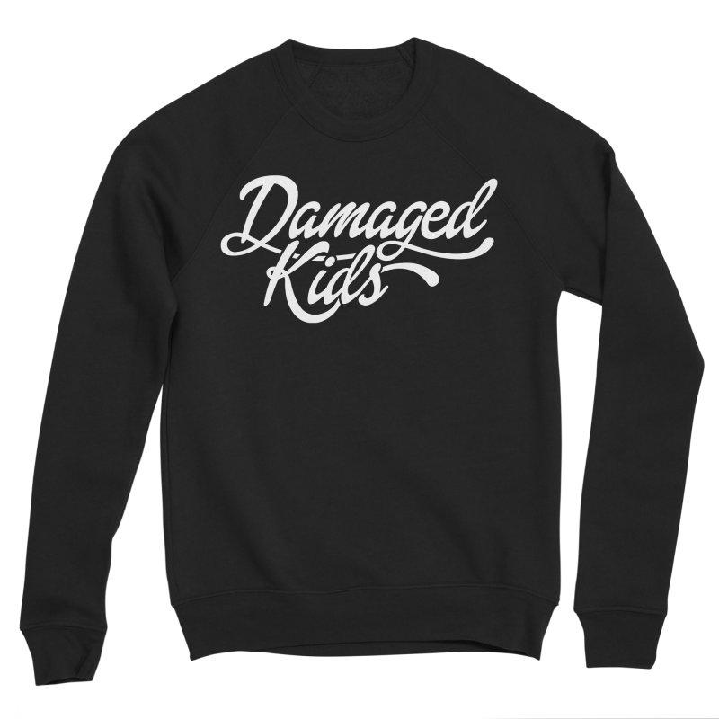 Original Damaged Kids Logo - White Men's Sponge Fleece Sweatshirt by LaurenVersino's Artist Shop