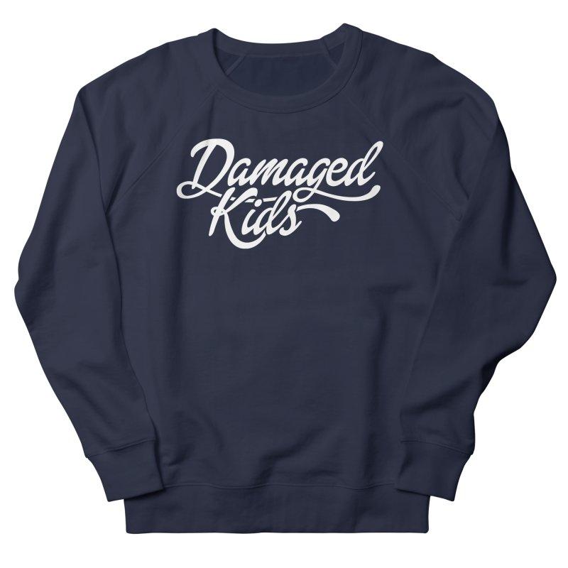 Original Damaged Kids Logo - White Women's French Terry Sweatshirt by LaurenVersino's Artist Shop