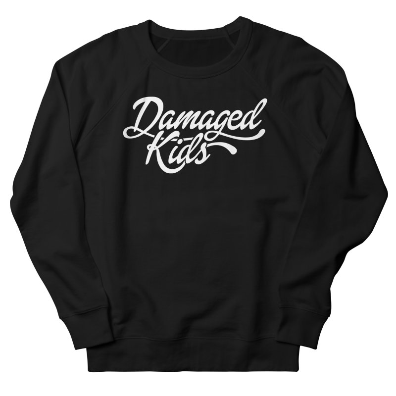 Original Damaged Kids Logo - White Men's French Terry Sweatshirt by LaurenVersino's Artist Shop